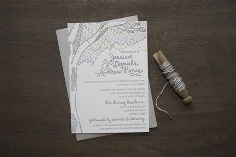 Beautiful Wedding Invitation Letter 9th Letter Press Andrew S Rustic Wedding Invitations