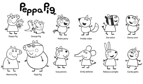 peppa pig cartoon coloring pages peppa pig 44 cartoons printable coloring pages