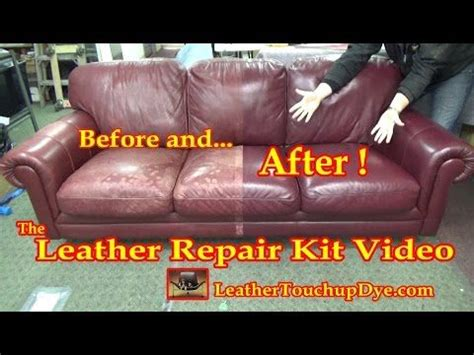 cracked leather couch repair fix cracking leather leather repair video
