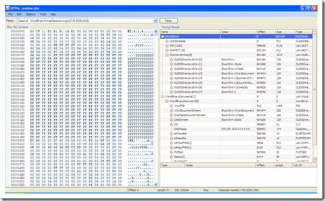 5329 http microsoft word file format vulnerability the microsoft office visualization tool offvis spelunk
