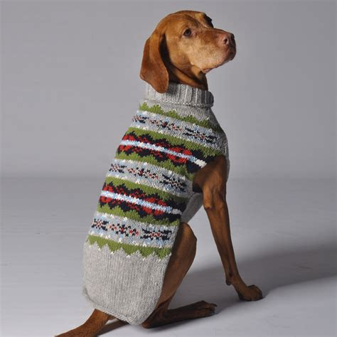 puppy sweaters chilly grey fairisle wool sweater