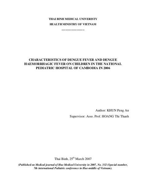 Dengue Hemorrhagic Fever Thesis by Dengue Hemorrhagic Fever Thesis Writefiction581 Web Fc2