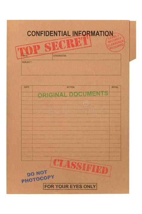 top secret report template dossier confidentiel extr 234 mement secret photo stock