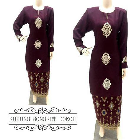 Baju Kebaya Songket Moden baju kurung moden songket dokoh i all sold out saeeda collections