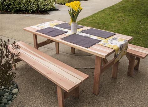 Outdoor Picnic Table And Bench Set Wooden Picnic Benches Wooden Soapp Culture