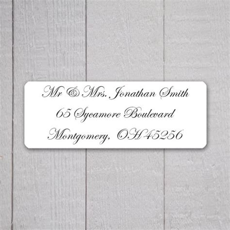 wedding invitation return address labels wedding stickers