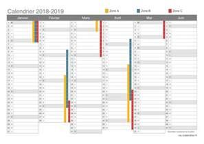 Calendrier 2018 2ème Semestre à Imprimer Vacances Scolaires 2018 2019 Dates Icalendrier