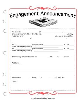 Wedding Newspaper Template by Newspaper Engagement Template
