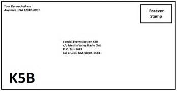 Letter Address Format With C O Mesilla Valley Radio Club N5bl