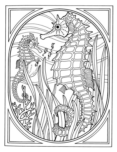 sea pony coloring pages 25 best ideas about ocean coloring pages on pinterest