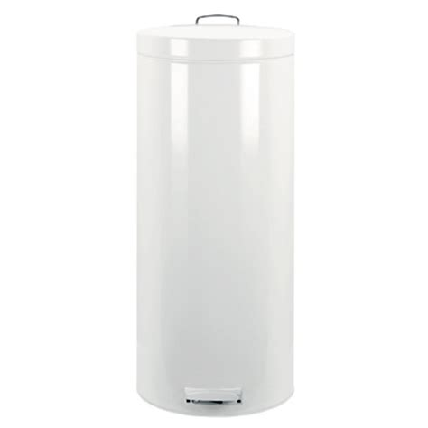 White Kitchen Trash Can by Brabantia Pedal Bin 30l White In Stainless Steel Trash