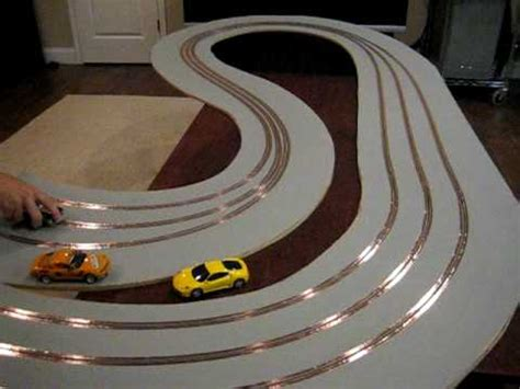 wood slot car track  magnetic primer youtube