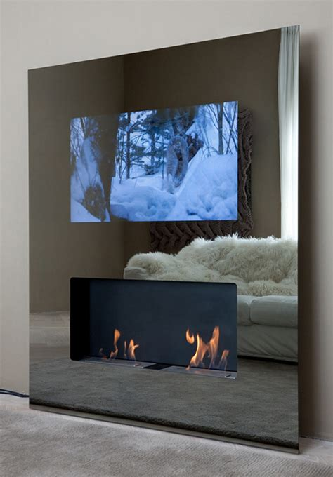 eco friendly fireplaces with built in lcd tv safretti