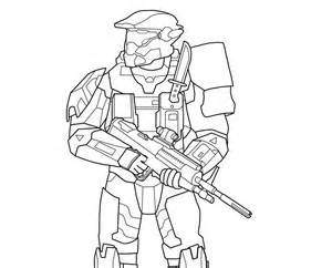 Halo 3 Coloring Pages Master Chief  AZ sketch template