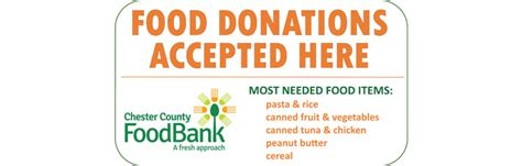 Most Needed Food Pantry Items by Food Drives Chester County Food Bank