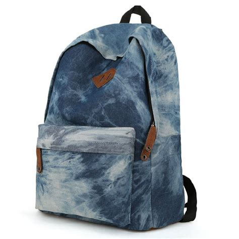 bags for school casual denim backpack fashion boys students middle