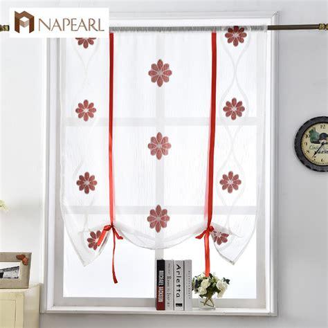 N 186 voile curtains kitchen door door roman blinds red black cafe 169 short short curtain home