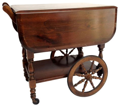 Antique Kitchen Islands For Sale by Georgian Style Drop Leaf Tea Cart