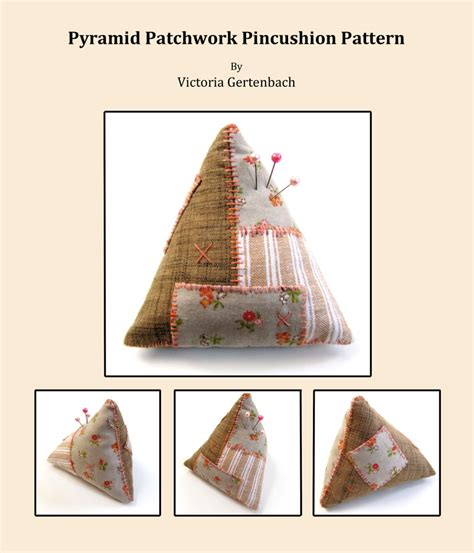 Patchwork Pincushion Pattern - pincushion pattern digital pdf sewing pattern patchwork