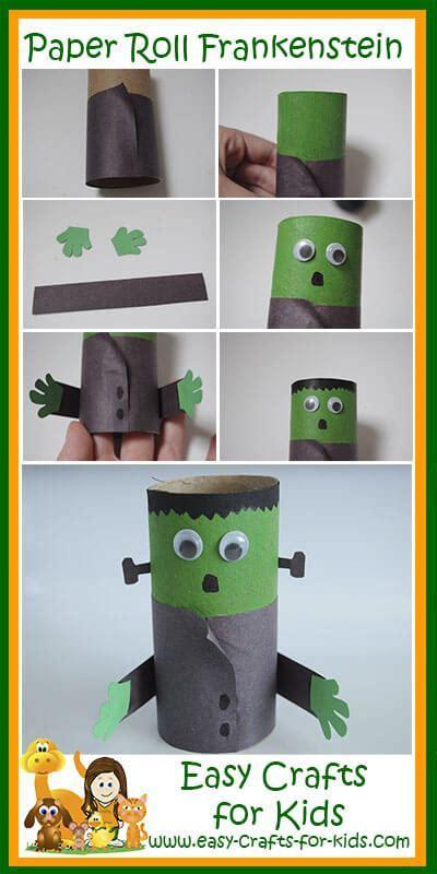 Halloween Frankenstein Craft for an empty paper roll!
