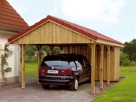 carport holz 4x4 skanholz satteldach einzelcarport sauerland mit