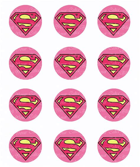 Better Home Decor by Supergirl Logo Inspired Edible Icing Cupcake Or Cookie Decor Toppers Spm5 Bling Your Cake