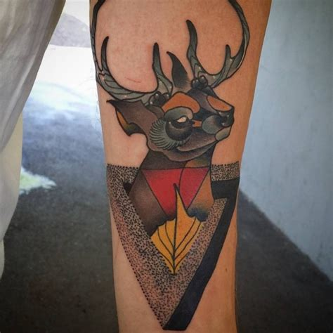 traditional deer tattoo 64 traditional deer tattoos ideas