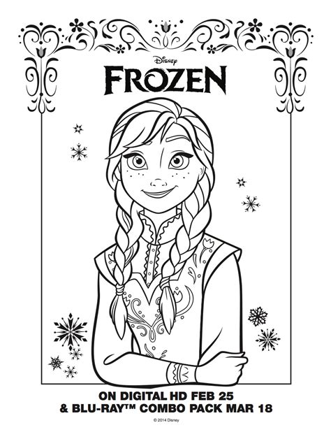 frozen coloring pages anna face frozen anna coloring sheet elsa and anna photo 36756526