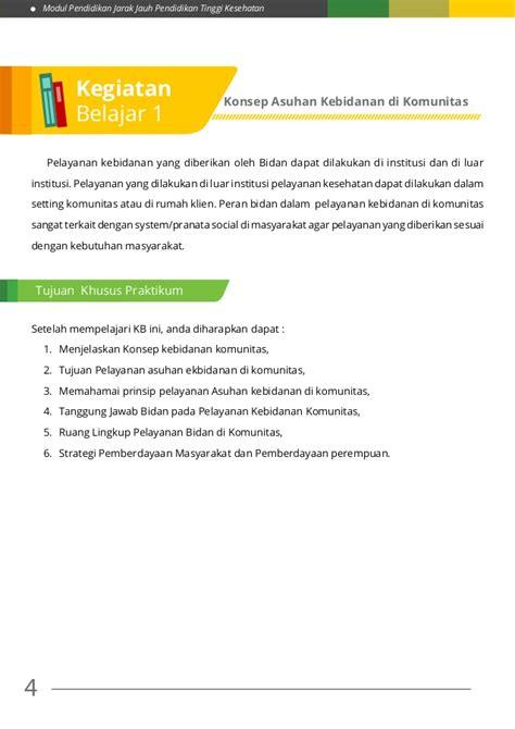 Modul Mata Kuliah Konsep Kebidanan modul 3 praktik kebid iii