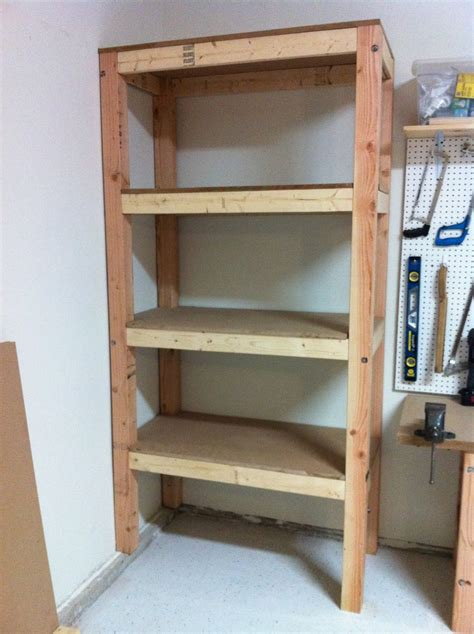Garage Shelving Woodworking Plans Woodwork Wood Garage Shelving Pdf Plans