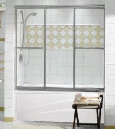 3 panel shower doors plus 3 panel tub showers door maax