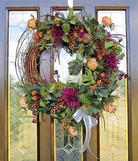 grapevine floral design home decor the fall wreath silk flower arrangement wall decor with