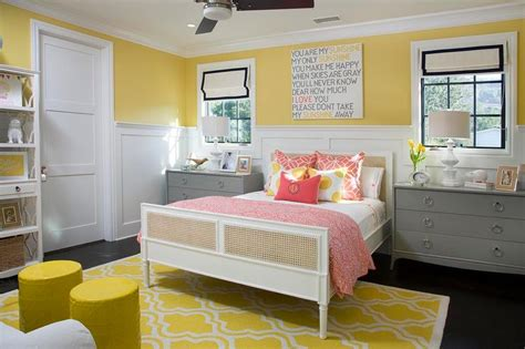 yellow and gray kid bedroom contemporary girl s room