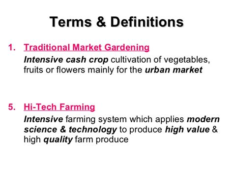 meaning of activities of gardening plantation agriculture