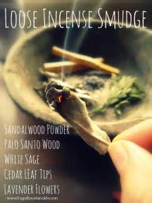 how to make your own incense smudge blend frugally