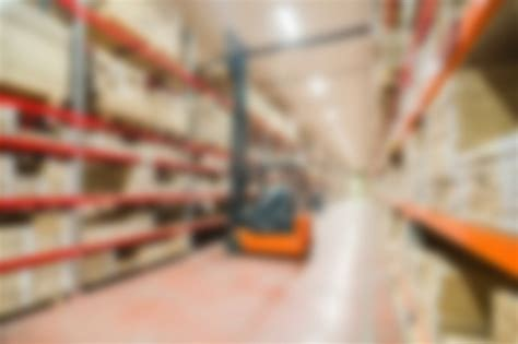 large modern warehouse theme blur background photo free
