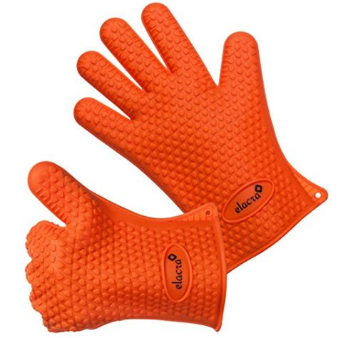Kitchen Gloves by Elacra Cooking Gloves Heat Resistant Barbeque Grilling