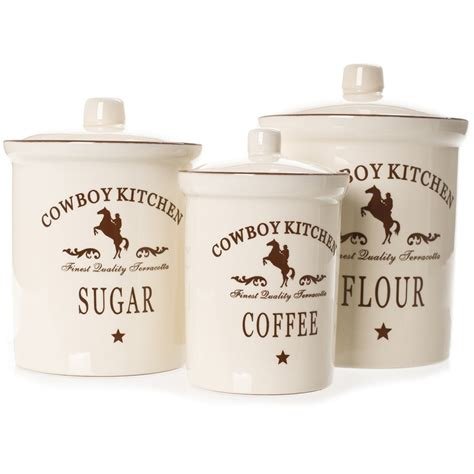 western kitchen canister sets cowboy kitchen canister sets kitchen ideas pinterest