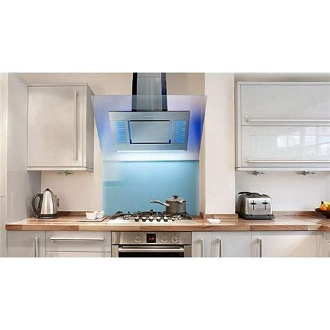 cm angled designer cooker hood stainless steel kitchen