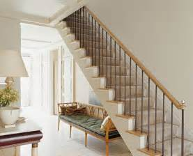 Glass Banisters For Staircases American Modern Thomas O Brien Traditional Staircase
