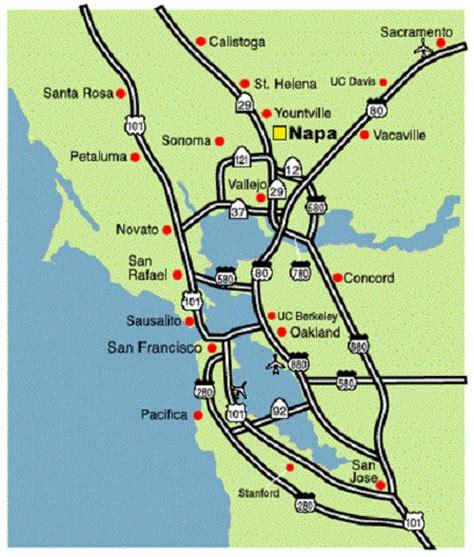 san francisco map napa valley napa valley california tourist attractions