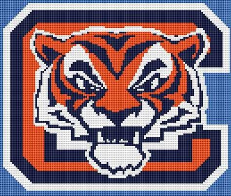 cross cleson clemson tigers counted cross stitch kit or pattern