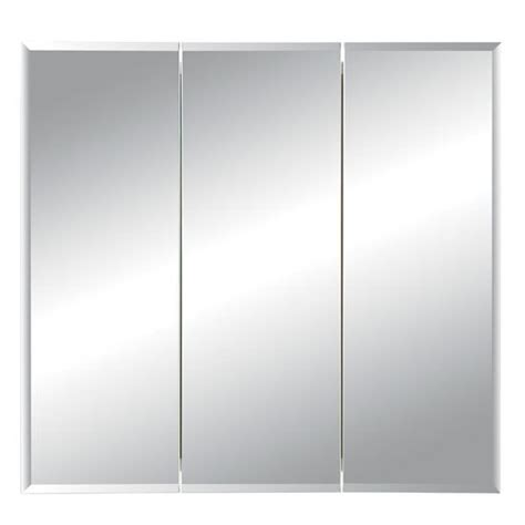 broan horizon frameless tri view medicine cabinet