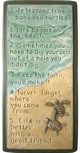 ceramic wall art life lessons baby sea turtles