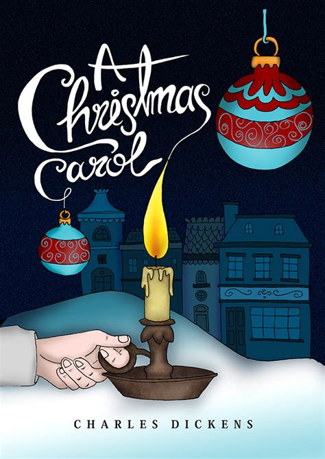 a christmas carol book cover on behance