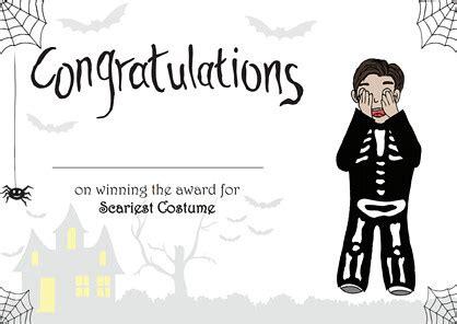 halloween achievement certificate  dressed boy flickr