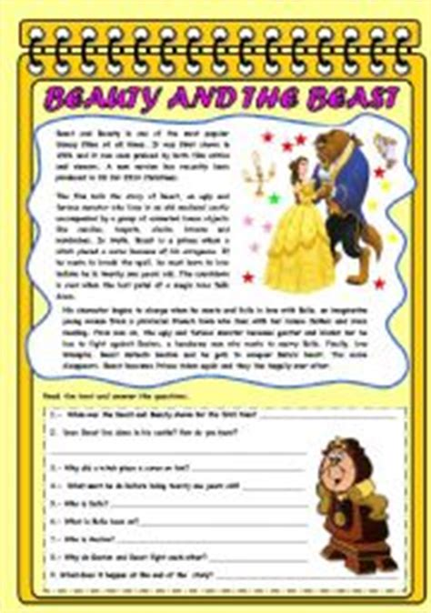 film observation quiz english exercises beauty and the beast there is something