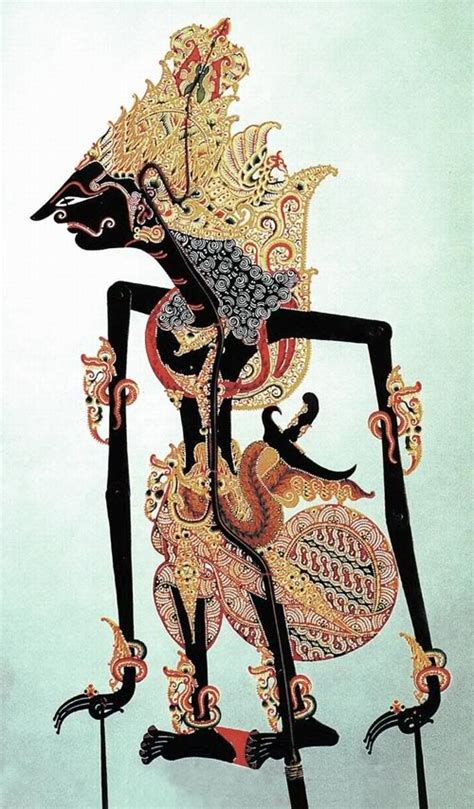 Mukena Lukis Dewi Sri Motif Bali wayang kulit shadow puppets part 9 bharatayuda oleh