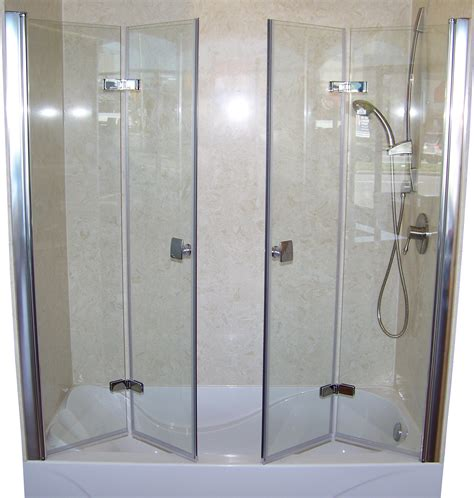 Folding Glass Shower Door Patented Bi Fold Shower Door Gus Designer Products