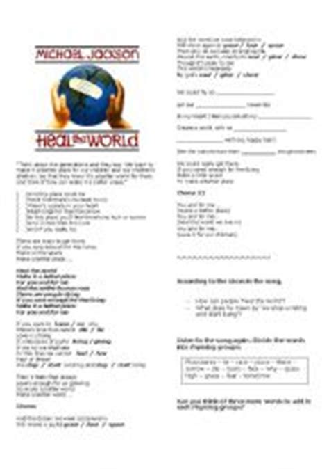 intermediate esl worksheets michael jackson biography english teaching worksheets heal the world michael jackson